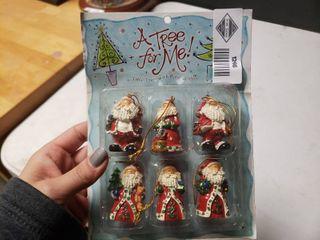 lot of Santa Ornaments