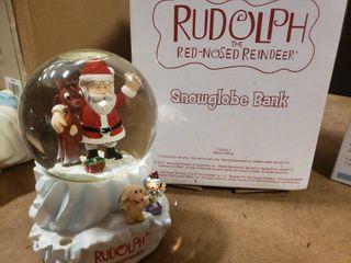 Rudolph Snowglobe Bank