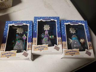 lot of 3 Hallmark Keepsake Snowmen