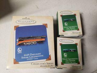 lot of 3 Hallmark Keepsake locomotives