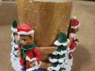 Bear Christmas Candle Holder