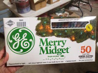 GE 50 light Multicolored Christmas lights