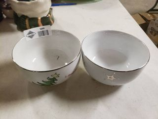 Pair of Christmas Bowls