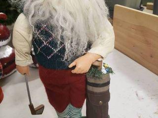 Golfing Santa Decor