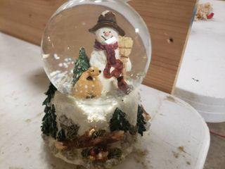 Snowman Musical Snowglobe