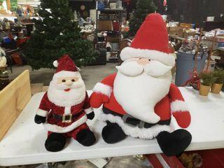 lot of 2 Plush Santa Clauses