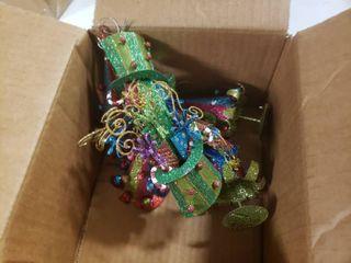 lot of Glittery Metal Ornaments