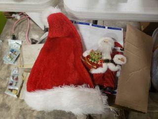 Small Decorative Santa and a Santa Hat