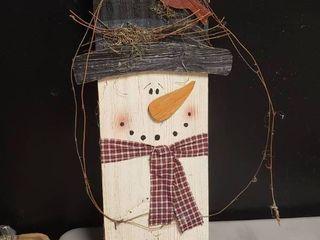 Wooden Snowman Decor