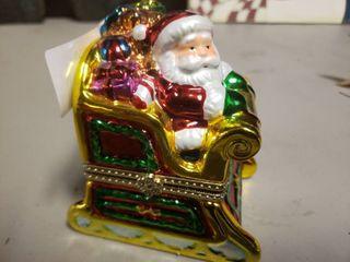 Santa on Sleigh Music Box