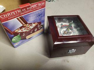Christmas Music Box with Animated Train
