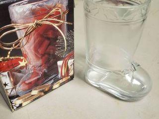 Studio Nova Glass Boot Decor