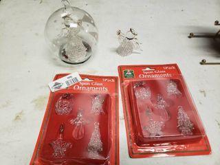 lot of Spun Glass Ornaments