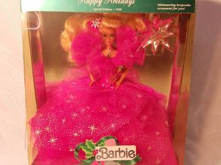 1990 Happy Holidays Barbie Doll Special Edition 4098 Retirement Sale