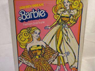 Golden Dream Vintage Barbie Fashion Doll Trunk