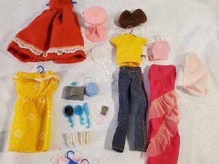 lot of Vintage Jordache Barbie Clothes and Accessories
