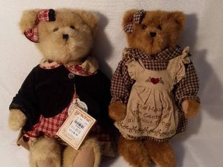 lot of 2 Boyds Bears The Head Bean Collection Both with Original Tags