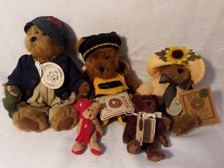 lot of 5 Various Sizes Boyds Bears The Head Bean Collection with Originals Tag