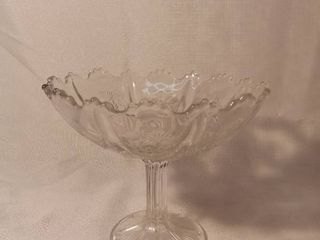Crystal Etched Candy Dish