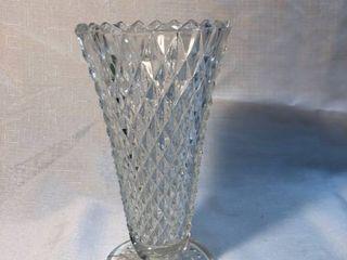 Crystal Etched Diamond Designed Vase location Shelf 5