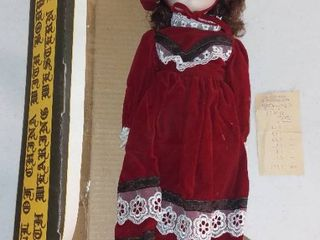 Porcelain Head with Cloth Body Doll in Western Dress