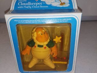 Care Bears Vintage Poseable Figure Cloud Keeper With Broom Accessory Kenner 1984