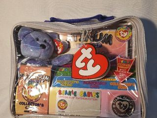 ty beanie babies official club kit ii  platinum edition