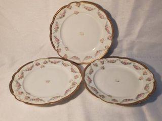 lot of 3 Antique Decorative Plates Made in Austria