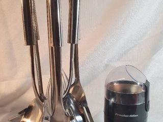 Proctor Silex Coffee Bean Grinder with 6 Kitchen Utensils with Stand  Tested and Working