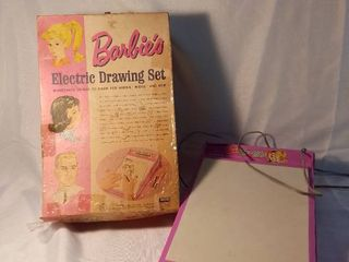 Mattel Barbies Electric Drawing Set light Board