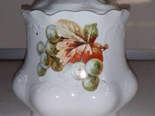 Vintage Hand Painted Biscuit Jar