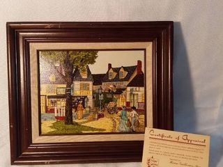 Home Galleries Original Oil Painting Framed with Certificate of Appraisal