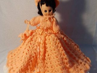 Baby Doll with Crocheted Dress and Doll Stand