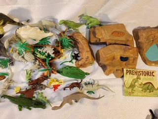 lot of Prehistoric Animal Toys with Agriculture