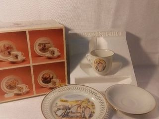 Bing and Grondahl China Tea Set with Decorative Plate Made in Denmark
