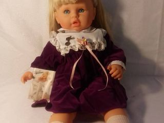 Zapf Creation Infant Doll Made in West Germany Purple Dress Easter Themed