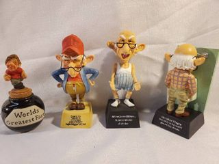 lot of 4 Old Man Figurines