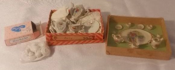lot of 3 Mini Ceramic Tea Sets
