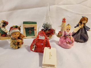 lot of 8 Christmas Collectibles and Ornament  Hallmark and More