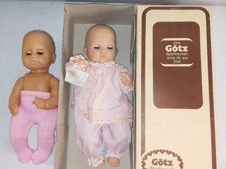 Pair of Vintage Gotz Dolls in Box