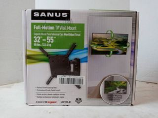 Sanus lmf115 b1 Full Motion Wall Tv Mount Fits Tvs 32  Up To 55