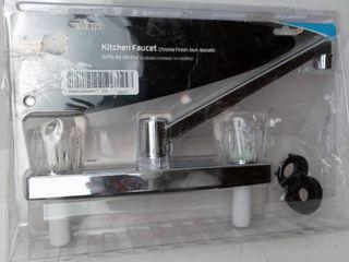 Road   Home Chrome 2 handle Deck Mount low arc Kitchen Faucet