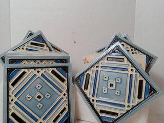 Blue Pattern Ceramic Tile 6 A6