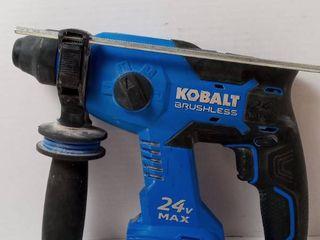 Kobalt 24V 7 8  SDS Plus Variable Speed Cordless Rotary Hammer Drill