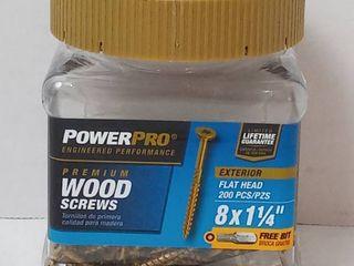 PowerPro Premium Flat Head Wood Screws