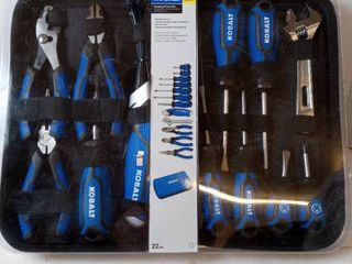 Kobalt 1658554 22 Piece Household Tool Set With Soft Case
