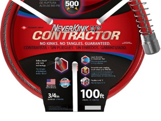 NeverKink Contractor 3 4 in x 100 ft Contractor Duty Kink Free Vinyl Red Coiled Hose 9810 100