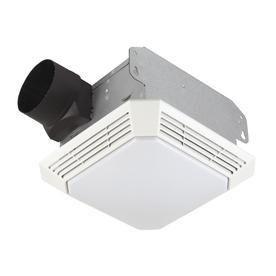 Broan 3 5 Sone 70 CFM White Bathroom Fan with light