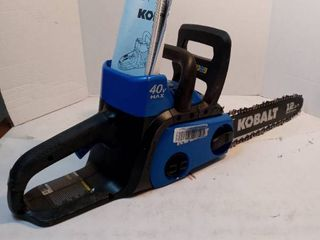Kobalt 12in 40V No Battery Chain needs to be tightened