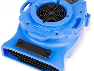 B Air VENTlO 25 1 4 HP low Profile Air Mover Carpet Dryer Floor Fan for Home Retail Plumbing Water Damage Restoration Blue